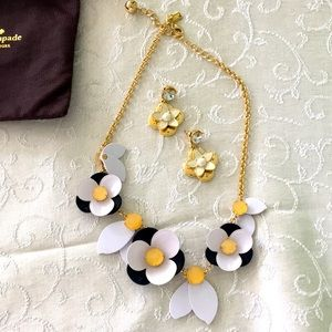 Kate Spade New York bib necklace and earrings set